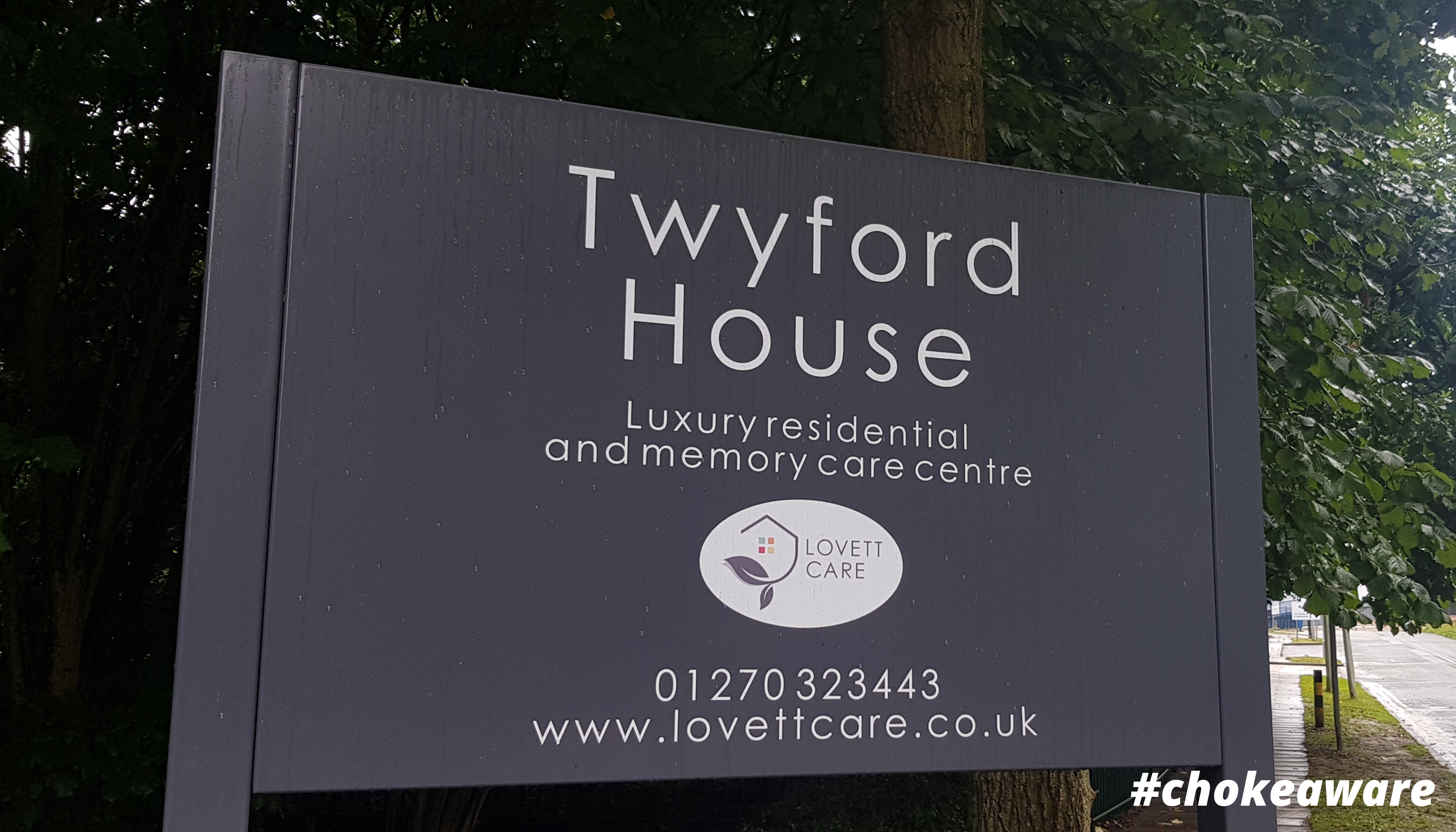 Entrance sign Twyford House Care Home